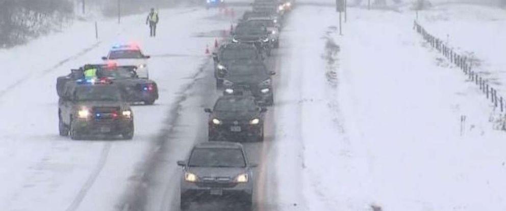 PHOTO: Driving conditions were difficult in much of Wisconsin over the weekend.