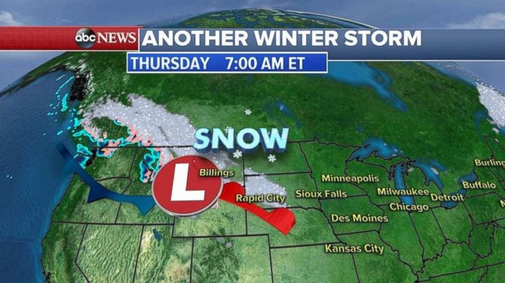 Another winter storm is expected to sweep through the Midwest and into the Northeast to close out the week