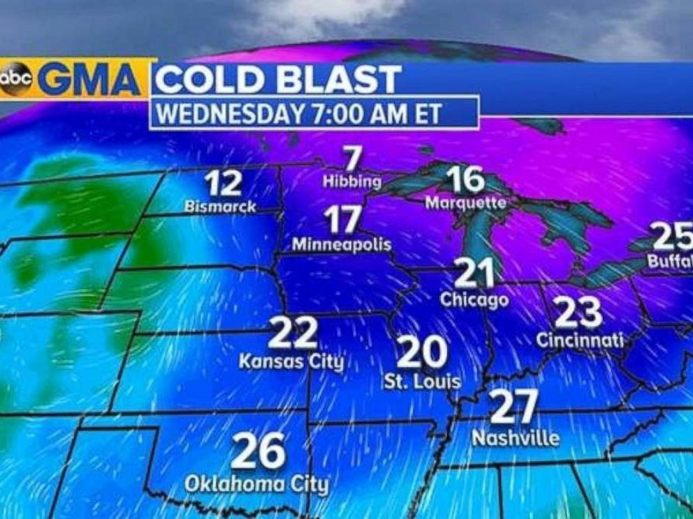PHOTO: The Midwest and Northeast are bracing for bitter cold temperatures.