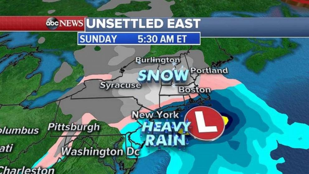 Snow is a possibility this weekend in the Northeast.