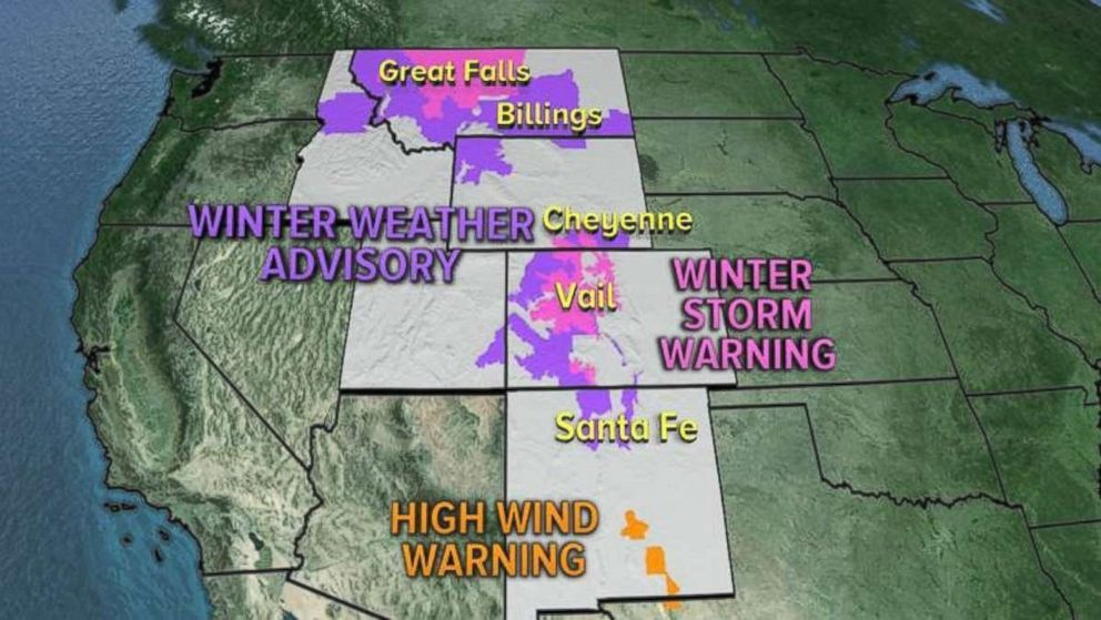 Winter Weather Alerts have been issued for seven western states.