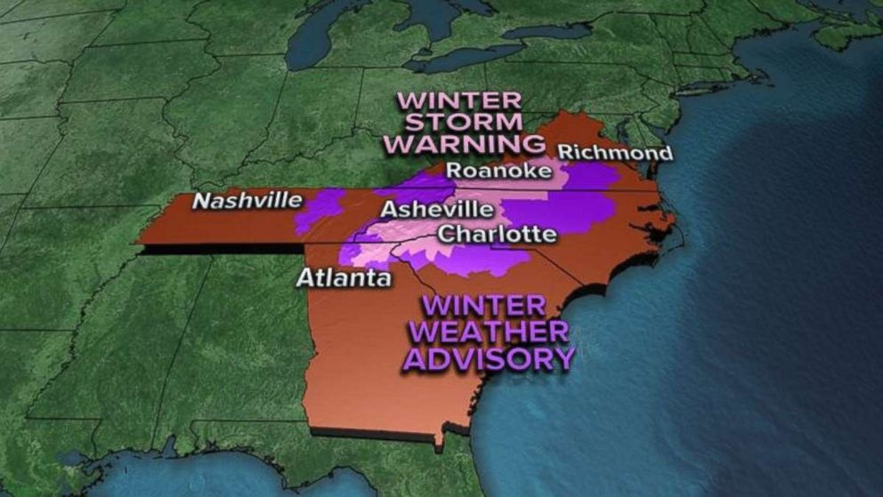 Winter weather advisories are still in effect this morning for much of the Southeast