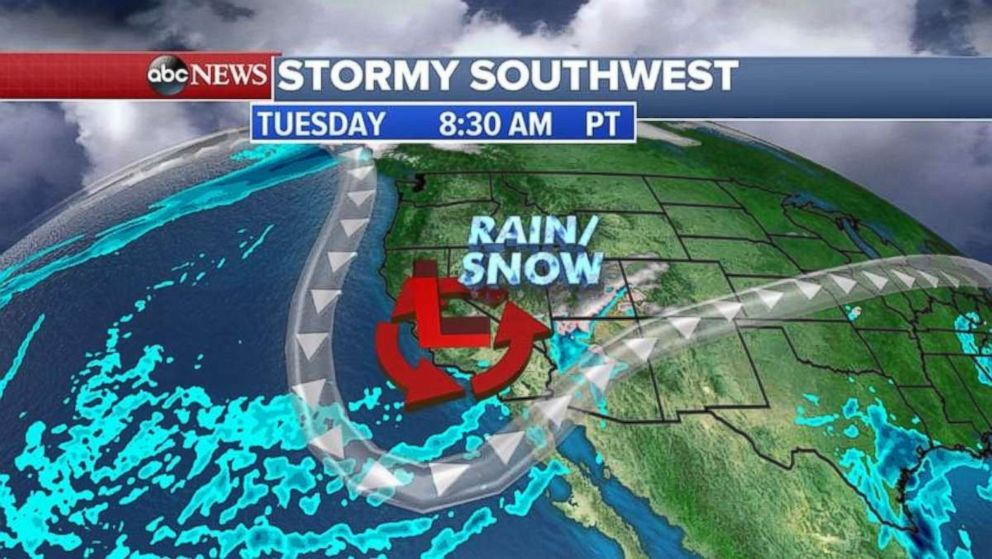 The Southwest can expect some storms Tuesday morning.