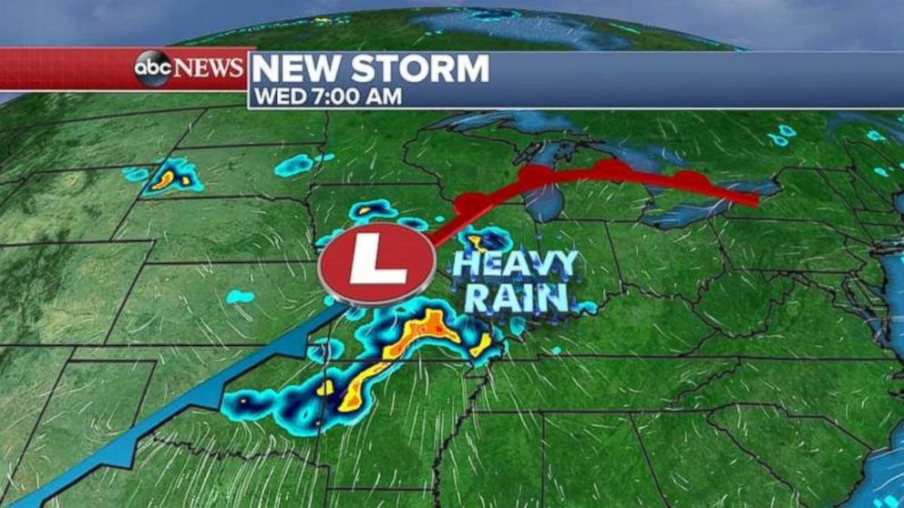East to get more rain by end of week as system crosses country