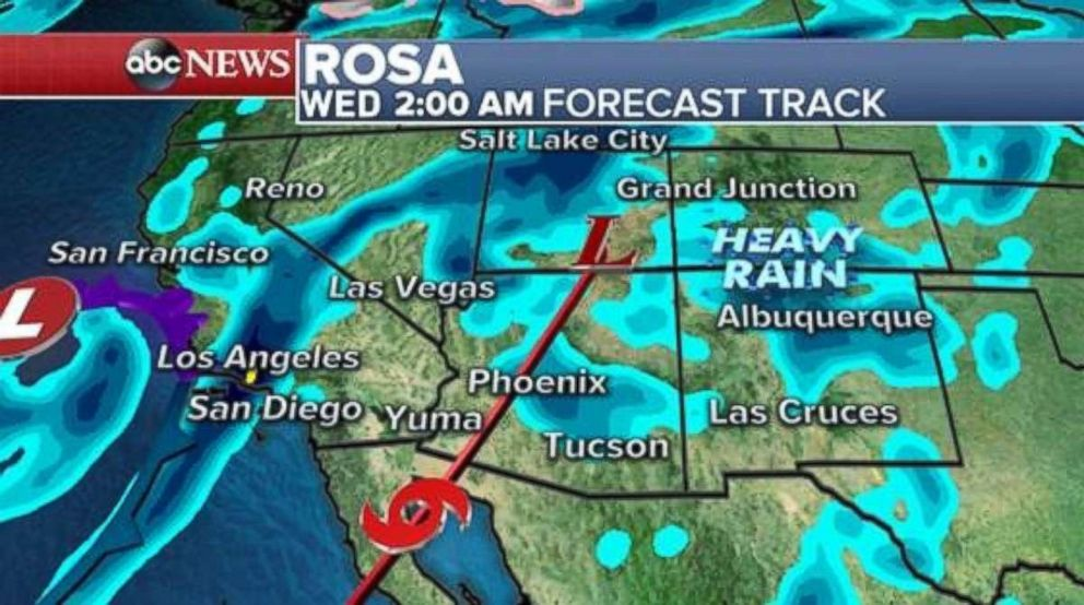 PHOTO: Widespread rain will cover the Southwest, including Arizona, Utah, Colorado and New Mexico by early Tuesday.