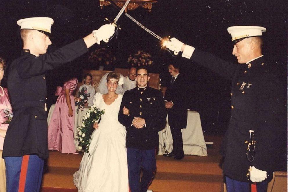 PHOTO: Kim and John Ruoccos Wedding October of 1990.