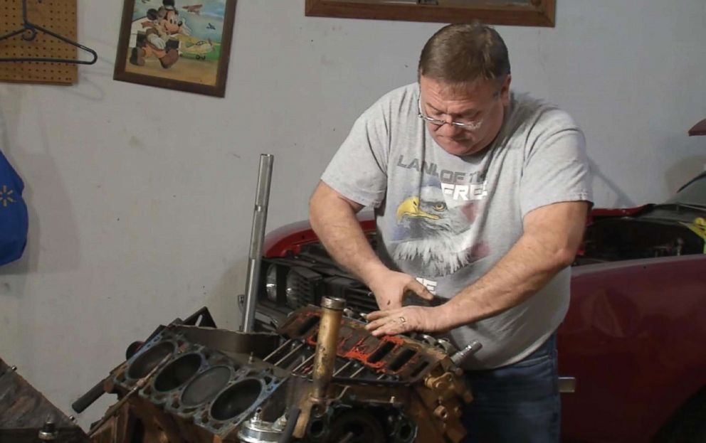 PHOTO: Will Frye found a wedding ring while replacing the motor for his 1969 Oldsmobile.
