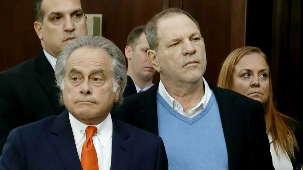 Harvey Weinstein appears in the New York State Supreme Court Building , May 25, 2018, in New York City.