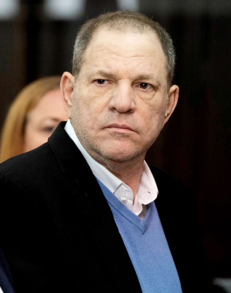 PHOTO: Film producer Harvey Weinstein stands inside Manhattan Criminal Court during his arraignment in New York, May 25, 2018.