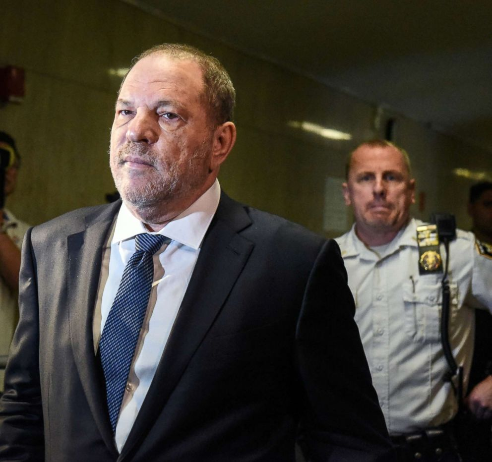 PHOTO: Harvey Weinstein arrives at the Supreme Court of the State of New York on October 11, 2018 in New York.
