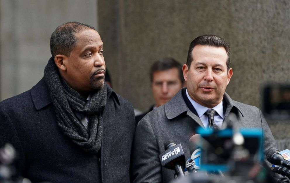 Part of film producer Harvey Weinstein's new legal team, attorneys Ronald Sullivan and Jose Baez speak, following a hearing at New York Supreme Court in the Manhattan borough of New York City,  Jan. 25, 2019.
