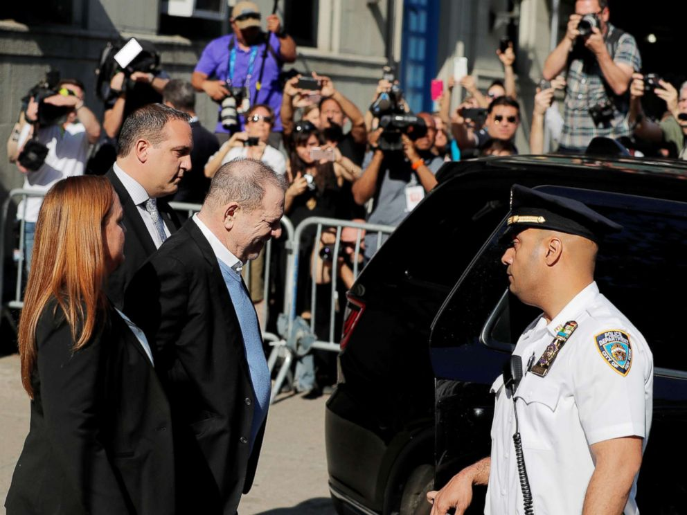 PHOTO: Film producer Harvey Weinstein leaves the 1st Precinct in Manhattan in New York, May 25, 2018.
