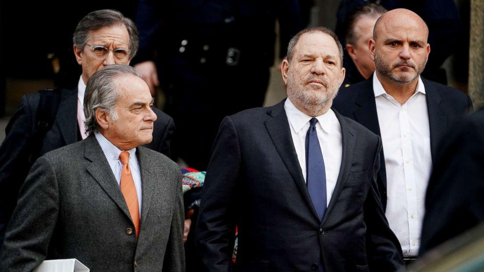 Film producer Harvey Weinstein leaves New York Supreme Court with his attorney Benjamin Brafman in the Manhattan borough of New York, Dec. 20, 2018.