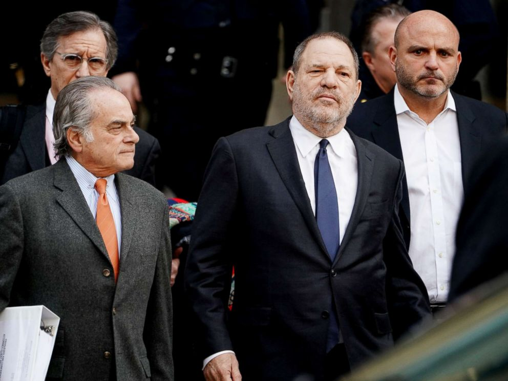 PHOTO: Film producer Harvey Weinstein leaves New York Supreme Court with his attorney Benjamin Brafman in the Manhattan borough of New York, Dec. 20, 2018.