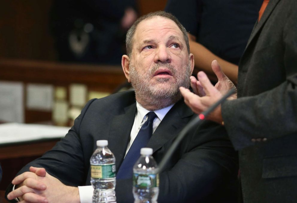 PHOTO: Harvey Weinstein talks to his lawyer during a court appearance at New York Supreme Court, Dec. 20, 2018, in N.Y.