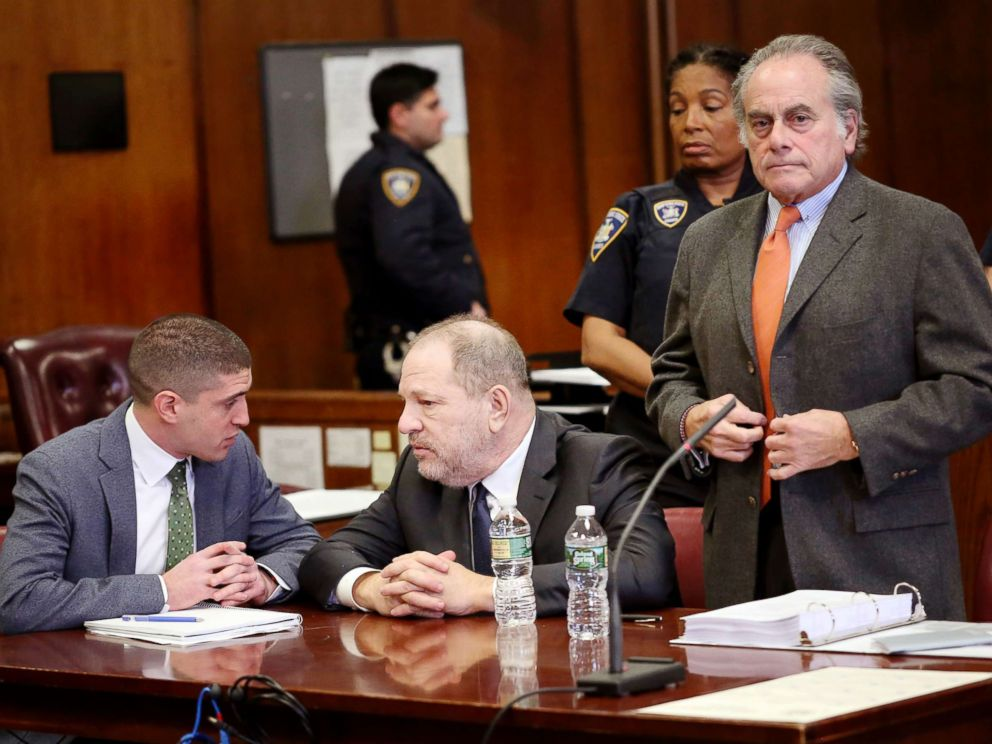 PHOTO: Harvey Weinstein, center, and his attorney Ben Brafman, right, make an appearance in court at New York Supreme Court, Dec. 20, 2018, in N.Y.