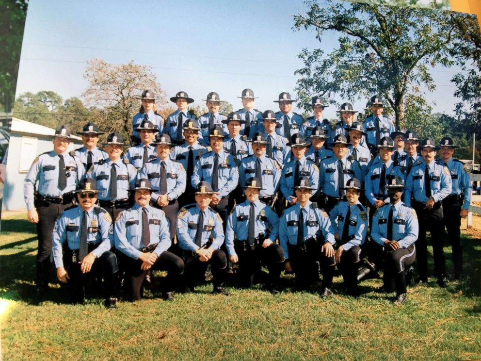 PHOTO: Wendy Caldwell, who is pictured in the back row first from the left, graduated from the police academy on July 21, 1993.