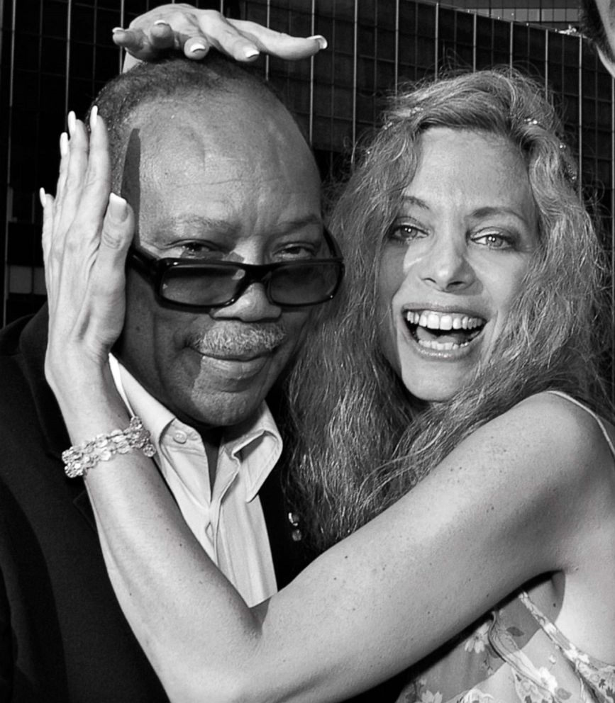 PHOTO: Wendy Oxenhorn poses for a photo with artist Quincy Jones in an undated handout photo.