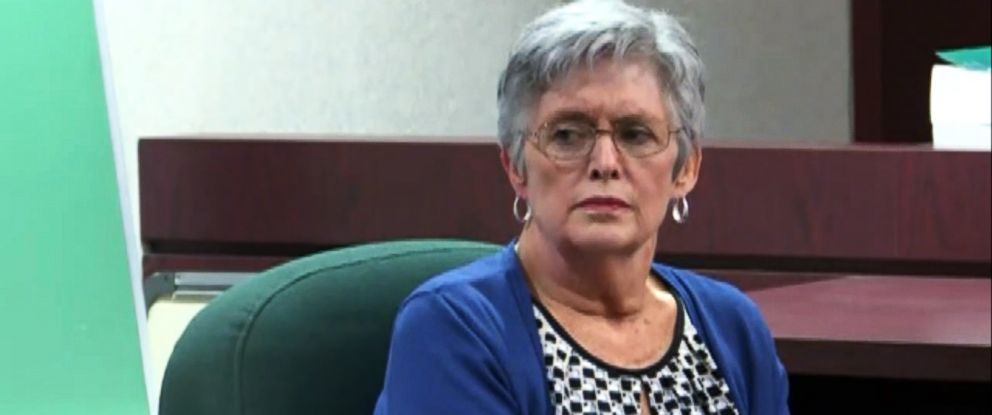 """PHOTO: Vivian Reeves, the wife of the man accused in a 2014 Florida movie theater shooting over texting, testifies in a hearing that will determine if Curtis Reeves met the criteria under the states """"Stand Your Ground law,"""" Feb. 22, 2017."""