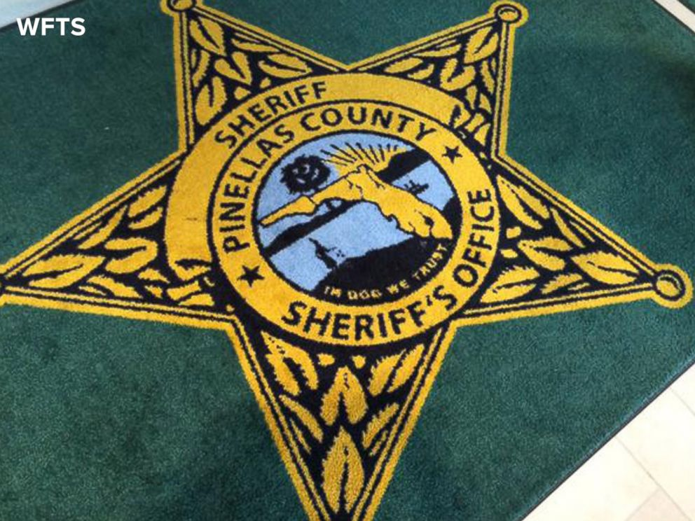 PHOTO: WFTS in Tampa Bay, Fla. reports that the Pinellas County Sheriffs Office received a new rug with a typo that appears to read, In Dog We Trust.