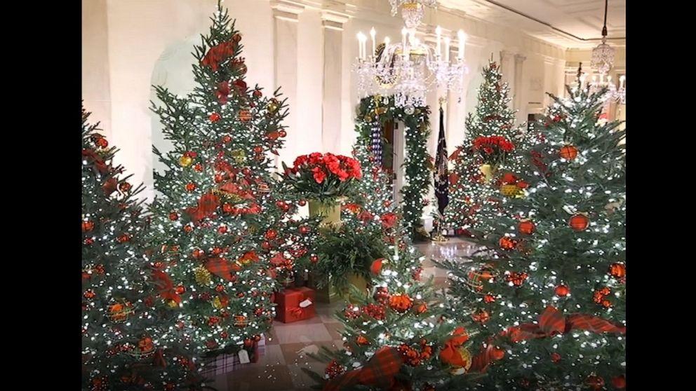 White House Christmas 2021 Skulls Photos White House 2020 Christmas Decorations Revealed Abc News