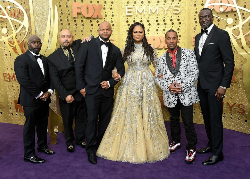 PHOTO: Antron McCay, Raymond Santana, Kevin Richardson, Ava DuVernay, Korey Wise, and Yusef Salaam attend the 71st Emmy Awards at Microsoft Theater on September 22, 2019 in Los Angeles, California.