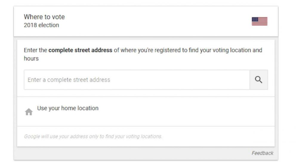 PHOTO: Google provided a plug-in for users searching Donde votar or Where to vote.