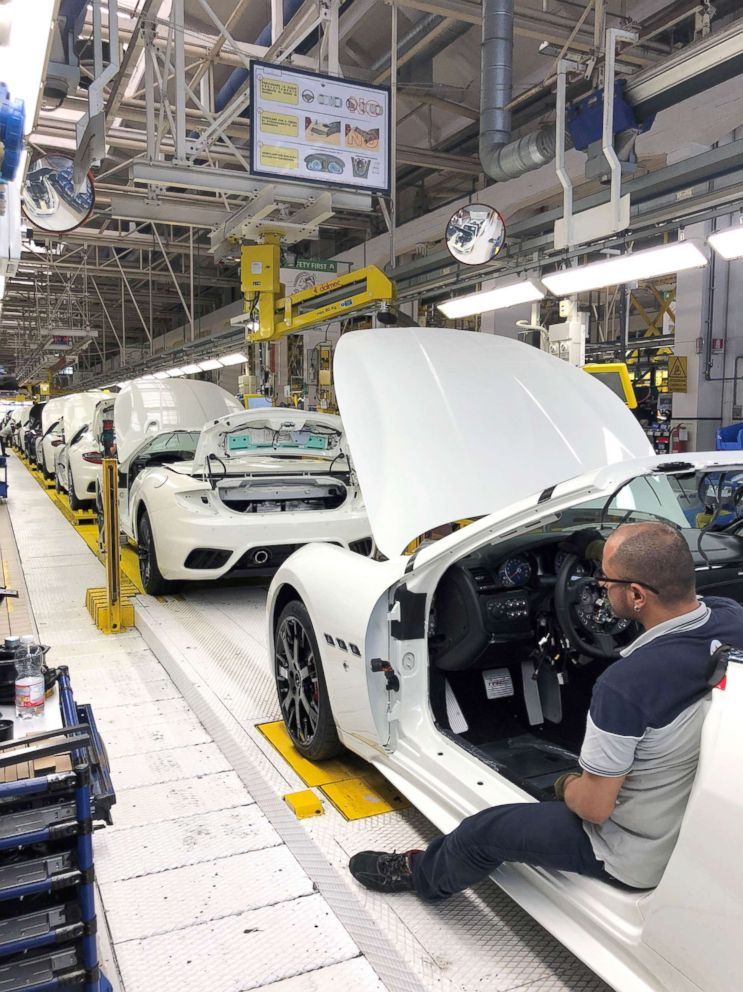 PHOTO: New models of the six-figure GranTurismo and GranTurismo Spyder are meticulously hand-assembled at a factory in Modena.