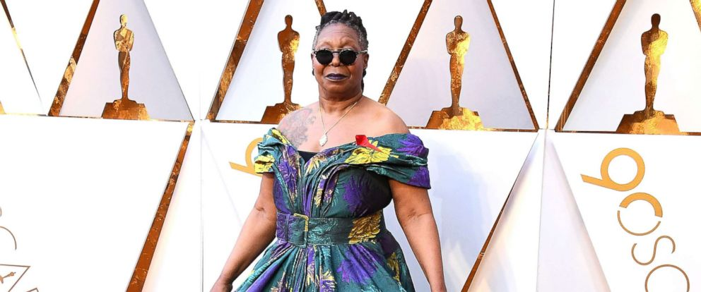 PHOTO: Whoopi Goldberg arrives at the 90th Annual Academy Awards, March 4, 2018, in Hollywood, Calif.