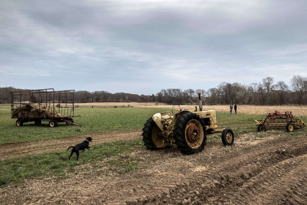 PHOTO: Bailey Brook Farm that belongs to former dairy farmer Rodney Bailey is seen in East Greenwich, Rhode Island, April 12, 2018.