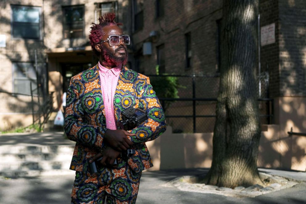 PHOTO: Josiah Esowe, a photographer based in New York, poses for a picture in Brooklyn, New York, Aug. 25, 2018.