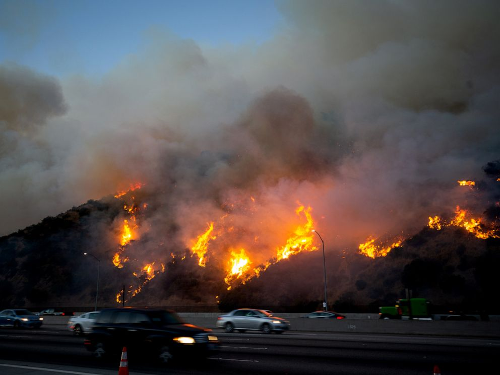 PHOTO: The Getty fire in Los Angeles, Oct. 28, 2019.