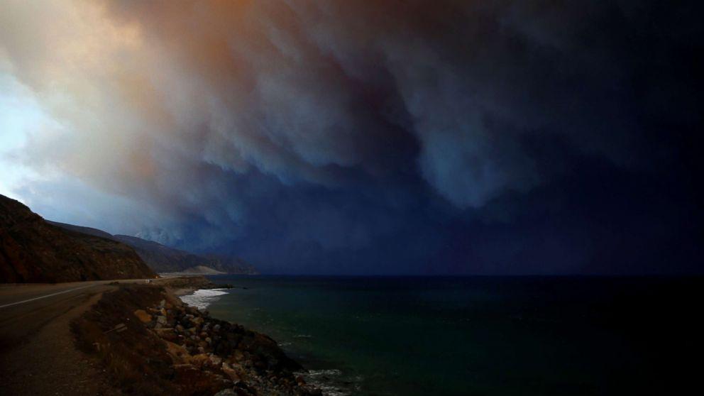 The Woolsey Fire burns in Malibu, Calif., Nov. 9, 2018.