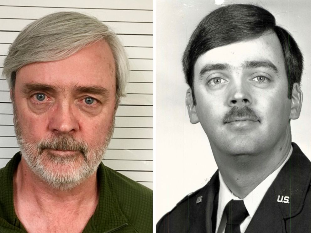 PHOTO: William Howard Hughes Jr. is pictured after being captured in June 2018 and an image from his time at the U.S. Air Force. Hughes, who disappeared in 1983.