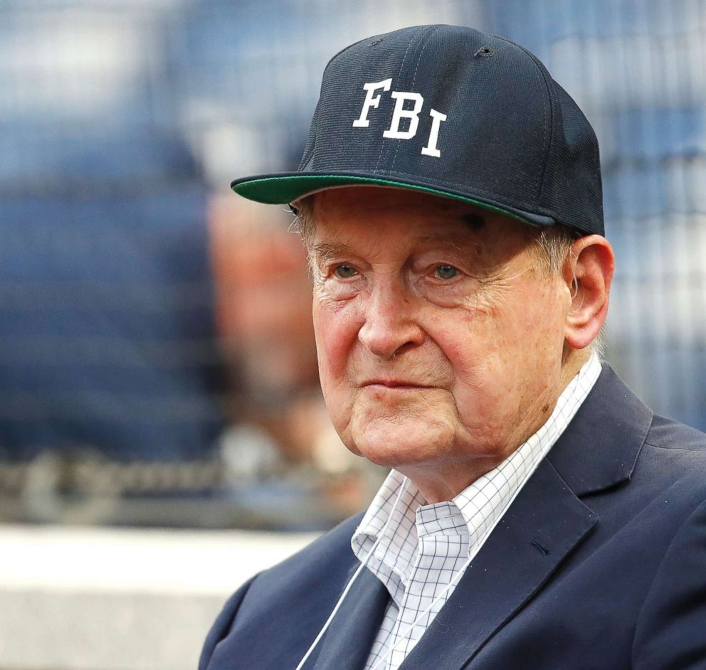 PHOTO: Judge William Webster, former FBI and CIA director, looks on before a game on Aug. 7, 2018, in Washington, D.C.