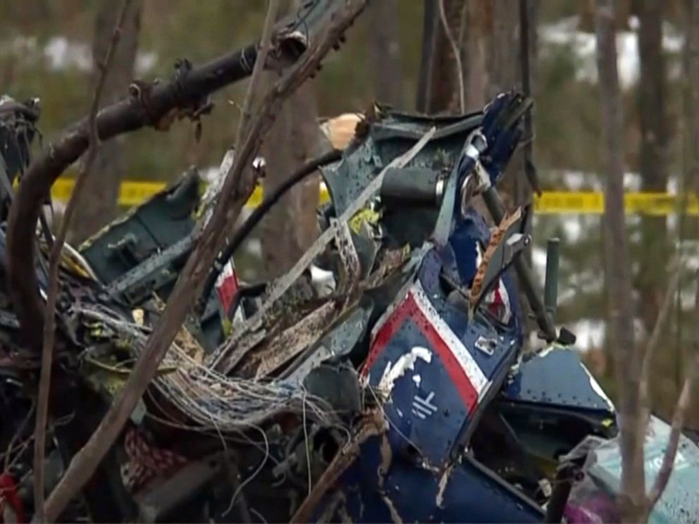 PHOTO: Three people were killed in a helicopter crash near Hazelhurst, Wis., officials said, April 26, 2018.