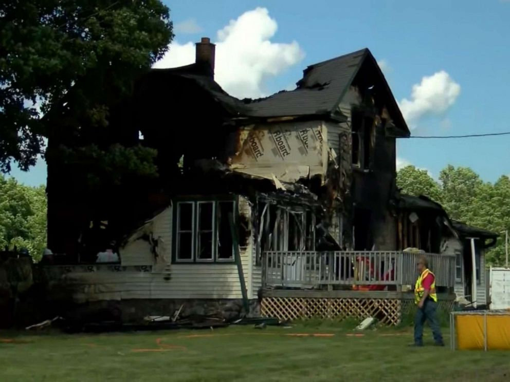 PHOTO: Six people are dead, including four children, after a fire ripped through a multi-family building in the Township of Ainsworth in Wisconsin on Tuesday, June 25, 2019.