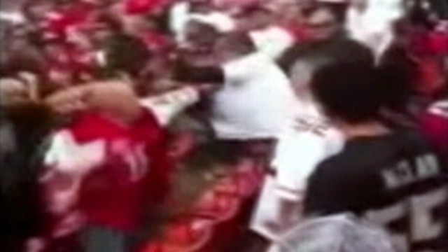 VIDEO: Fan violence hits Candlestick Park during and after 49ers-Raiders matchup.