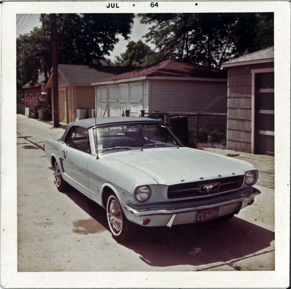 Gail Wise's 1965 Ford Mustang Convertible in summer 1964.