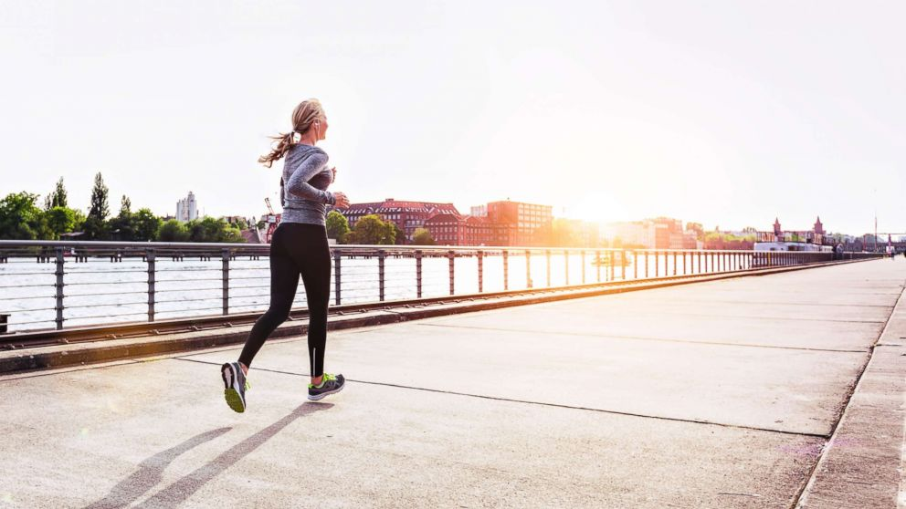 A woman is pictured jogging in this undated stock photo.