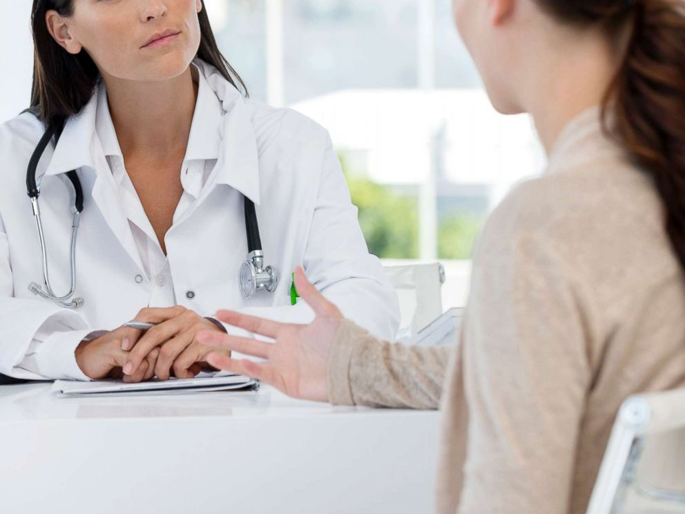 PHOTO: In this undated stock photo, a patient has a conversation with her doctor.