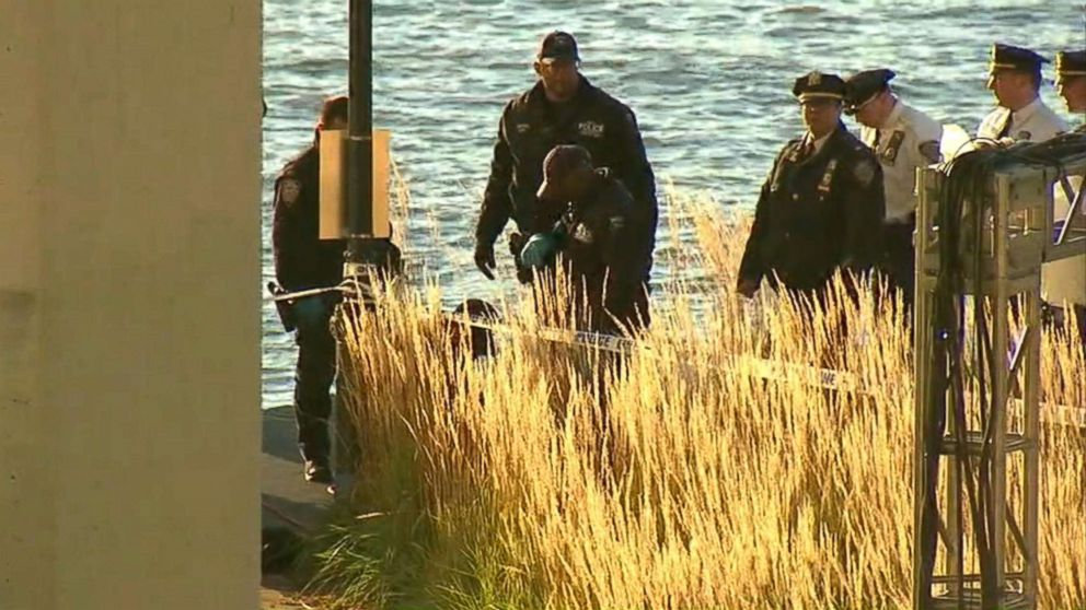 The bodies of two women were found washed up from the Hudson River off the Upper West Side in New York, Oct. 24, 2018.