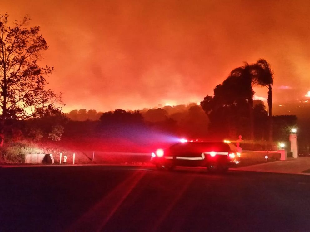 Ventura County Fire Department The Woolsey Fire near Thousand Oaks Calif was threatening 30,000 homes on Friday Nov. 9 2018