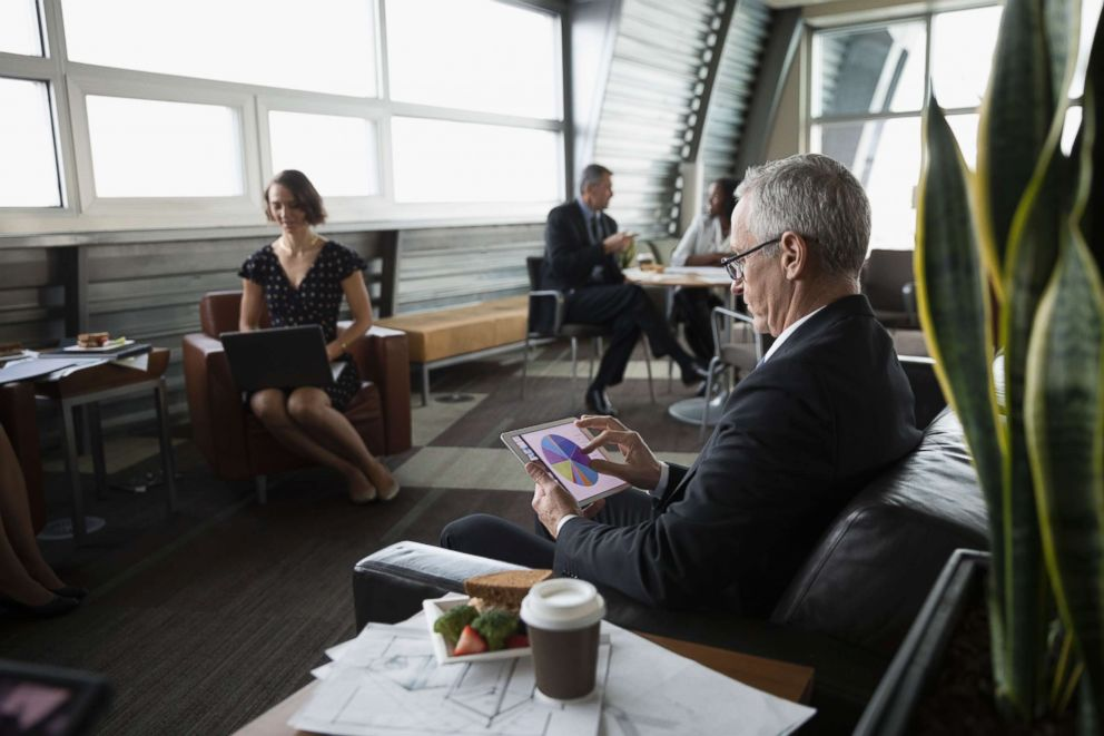 PHOTO: A businessman using a digital tablet in an undated stock photo.