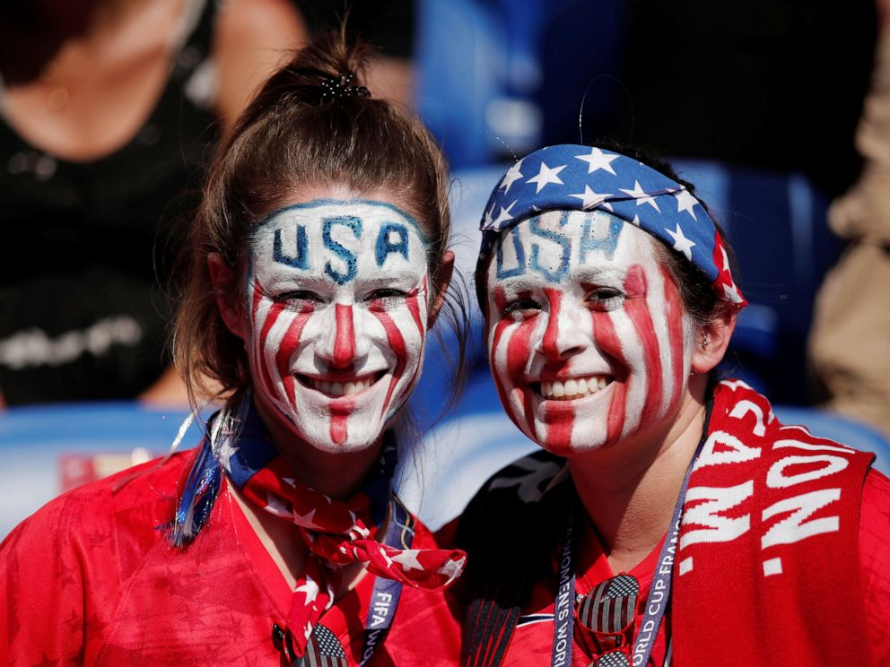 PHOTO: U.S. fans before the match between the U.S. and Netherlands, Lyon, France, July 7,2019.