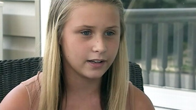 VIDEO: Miranda Bowman, 12, grabbed the wheel of a pickup truck after her grandfather died of a heart attack.