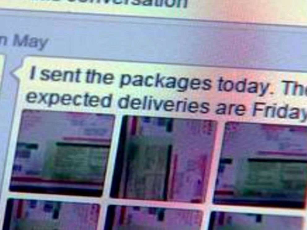 PHOTO: Myron May messaged a friend, telling him to expect a package to arrive on Friday.