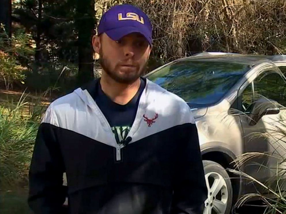 PHOTO: Josh Hoskins, a former coach at Knightdale High School in Wake County, N.C., speaks to WTVD about his resignation.