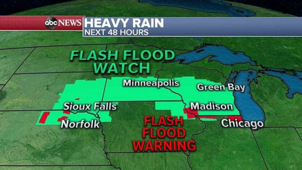 ABC News Heavy rain develops