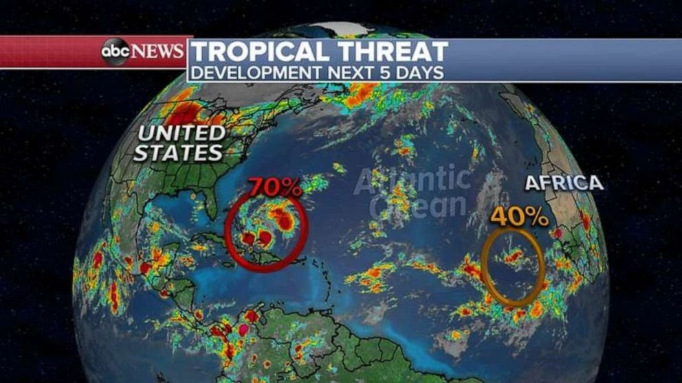 PHOTO: Tropical threat appears.